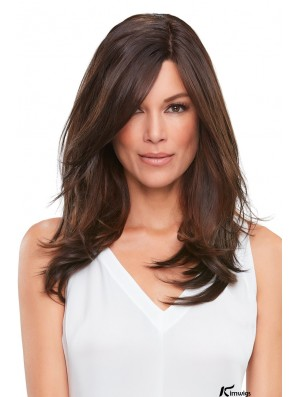Top Smart 18inch   Synthetic Hairpiece With Lace Front Mono (Clip- in/Adhesive)
