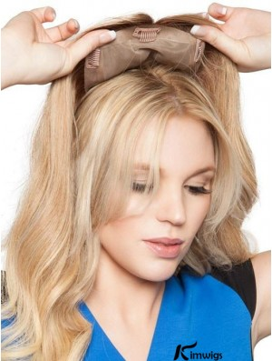 18 inch Top Form   Remy Human Hair Topper (Full Mono)
