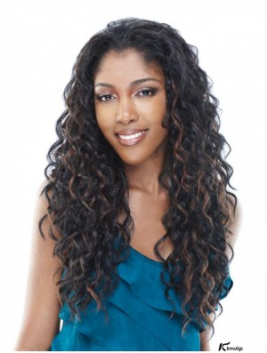 Long Kinky Brown Natural Brazilian Remy Hair Half Wigs