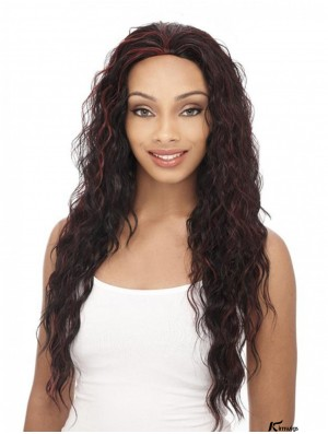 Curly Brazilian Remy Hair Brown Long Durable 3/4 Wigs