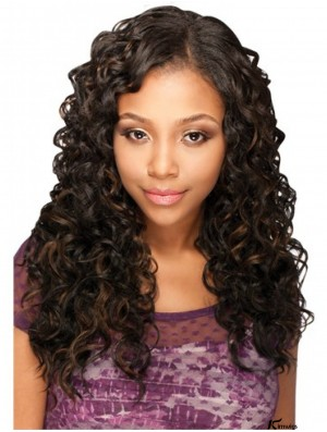 Popular Brown Long Kinky U Part Wigs