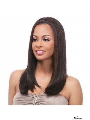 Straight Brazilian Remy Hair Brown Long Online 3/4 Wigs