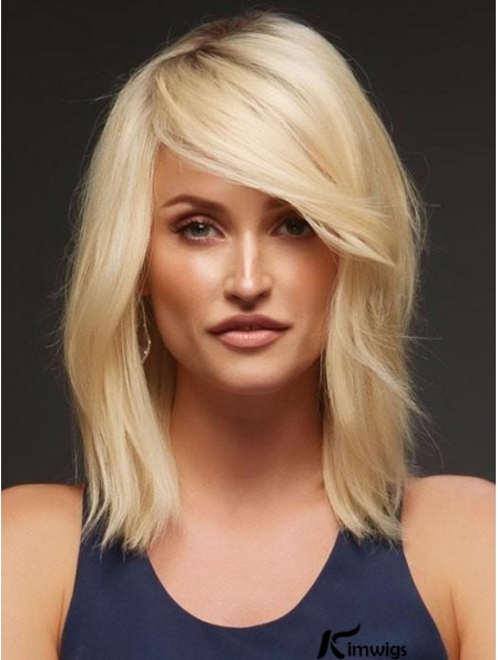 Blonde Layered Wavy 14 inch Buy Human Hair Wigs