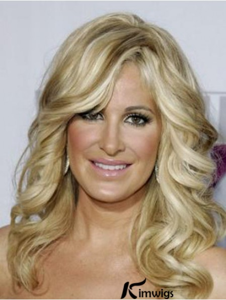 Kim Zolciak Wigs For Sale With Capless Long Length Blonde Color Human Hair Wigs