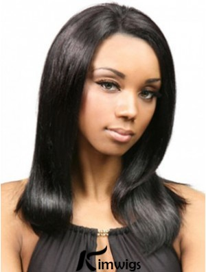 Yaki Human Hair With Capless Black Color Yaki Style