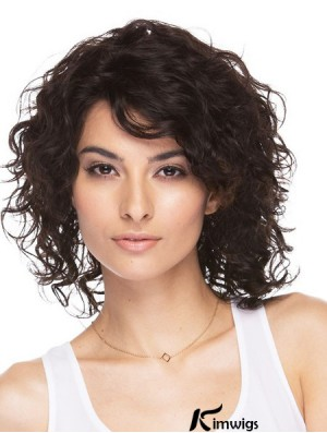 Brazilian Wavy Human Hair Shoulder Length Wavy Style With Bangs