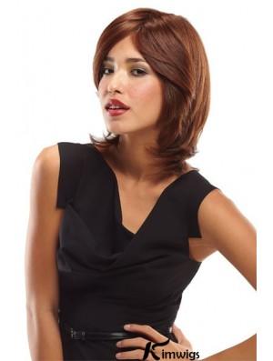Layered Shoulder Length Auburn Wavy Convenient Petite Wigs