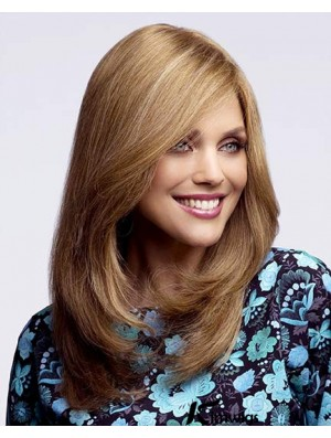 Human Hair Blonde With Capless Blonde Color Long Length