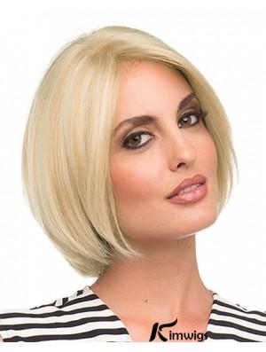 Chin Length Blonde Fashion 10 inch Straight Bob Wigs