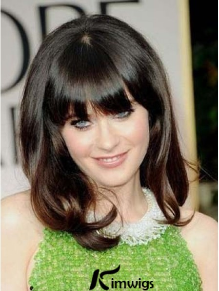 Affordable Lace Front Wavy Shoulder Length Celebrity Lace Wigs