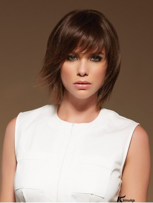 Kimwigs Fantastic Monofilament Wigs 100% Hand Tied Shoulder Length Straight Brown Layered So Great Real Hair Wigs For Black Women