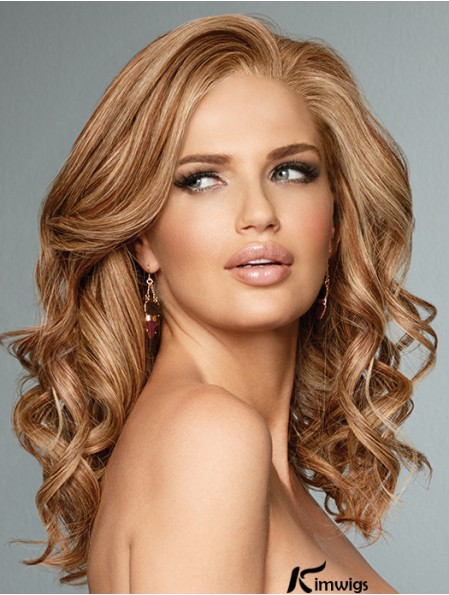 Curly Copper Without Bangs 16 inch Human Wig