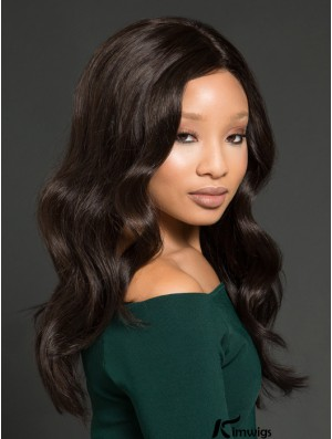 African American Wigs With Remy Human Lace Front Wavy Style