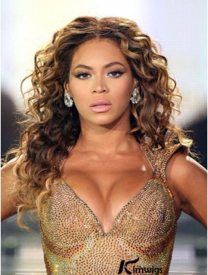 Brazilian Remy Hair Beyonce Curly Style Wigs With Lace Front