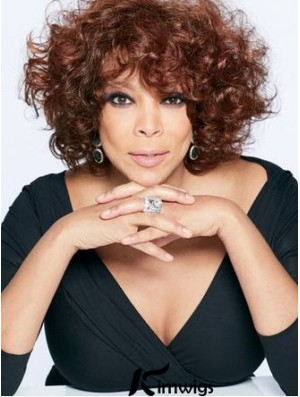 With Bangs Curly Auburn 10 inch Trendy Wendy Williams Wigs
