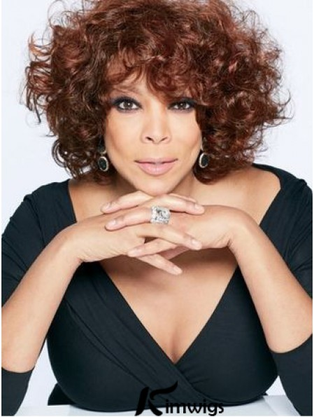 """With Bangs Curly Auburn 10"""" Trendy Wendy Williams Wigs"""