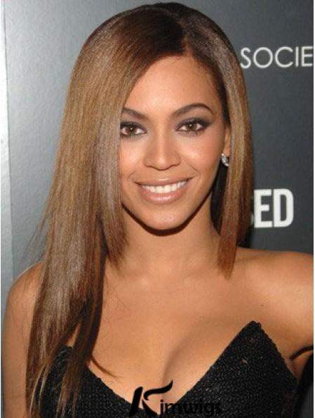 "Long Yaki Without Bangs Lace Front 18"" Flexibility Beyonce Wigs"
