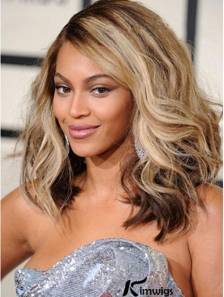 """Shoulder Length Wavy Layered Lace Front 14"""" Fabulous Beyonce Wigs"""