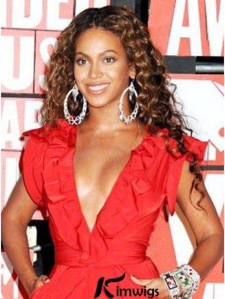 Long Curly African American Wigs Without Bangs Capless 20inch High Quality Beyonce Wigs