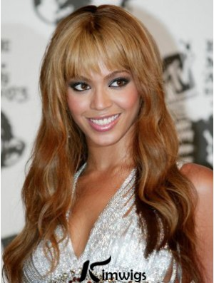 Long Wavy With Bangs Full Lace 20 inch Cheap Beyonce Wigs