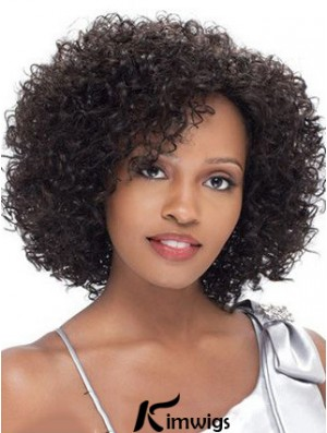Brazilian Short Lacr Front Black Kinky Curly Lace Front Wigs