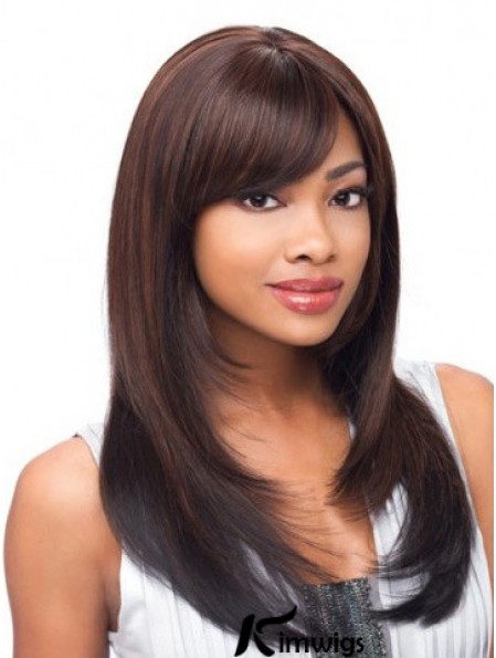 Yaki Layered Long Auburn Cheap Lace Front Wigs