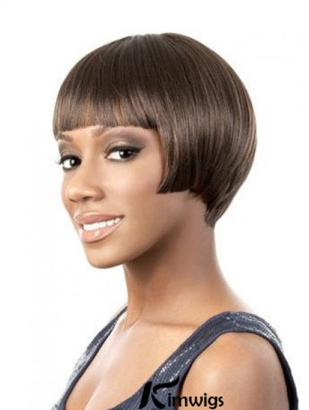 Lace Front Short Yaki Brown Amazing Bob Wigs