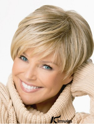 Synthetic Hair Cropped Length Straight Style Boycuts With Capless