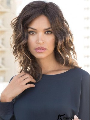 Layered 10 inch Shoulder Length Wavy Popular Medium  Synthetic Wigs