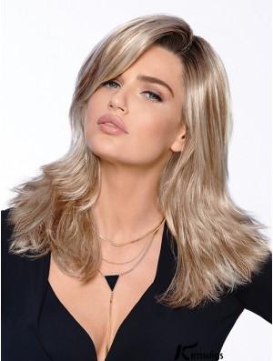 """Stylish 16"""" Blonde Long Layered Straight Lace Wigs"""