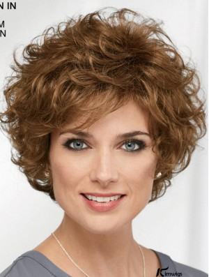 Curly Brown Short 8 inch Designed Classic Wigs