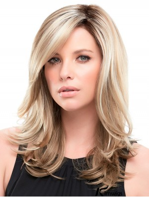 Wavy Blonde Synthetic Layered 16 inch Long Wigs