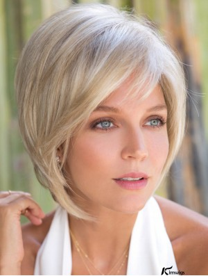 Blonde Monofilament Synthetic 10 inch Bob Style Wig