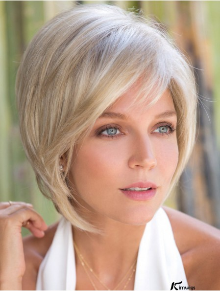 Blonde Lace Front  Monofilament Synthetic Wigs With 10 inch Bob Style Wig