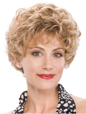 Pixie Blonde Short Capless Curly Classic Ladies Wig