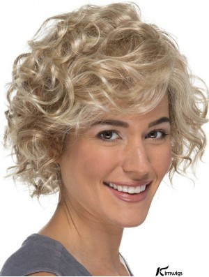 Classic Curly Blonde 8 inch Lace Wig