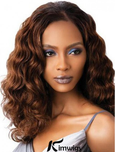 Sexy Auburn Shoulder Length Wavy Without Bangs Full Lace Fabulous Ladies Wigs For Sale