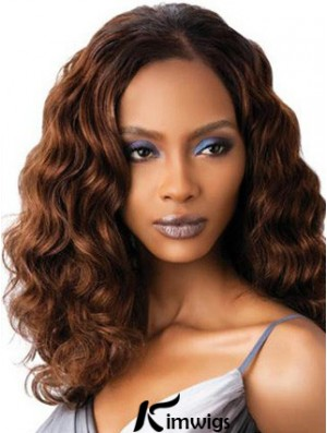 High Quality Auburn Wavy Shoulder Length Petite Full Lace Human Hair Wigs Without Bangs