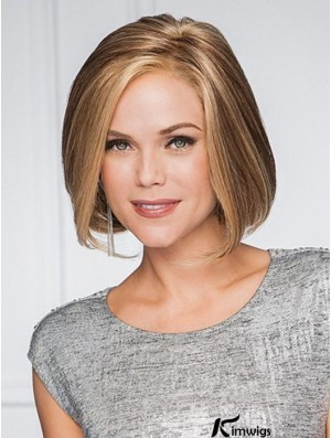 Blonde Short Bobs Lace Front Monofilament Synthetic Wigs For Women