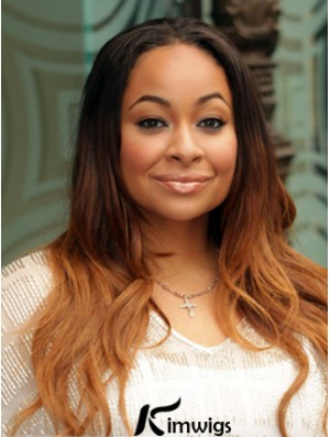 Fashion Long Wavy Without Bangs Lace Front Wigs With 22inch For Black Women
