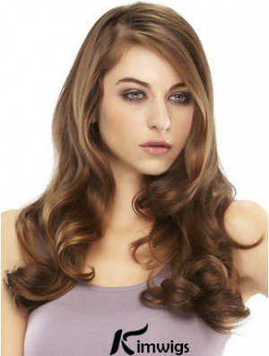 Auburn Colour Long Hairpiece With Wavy Sassy Remy Human Hair Half Wigs