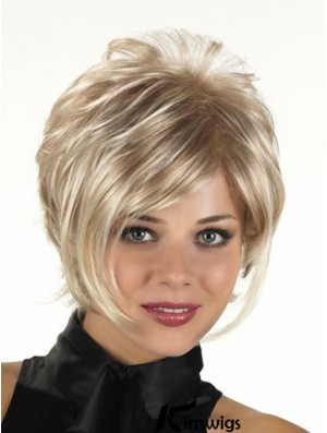 Fashion Blonde Short Wavy Capless  Layered Wigs Online For Women