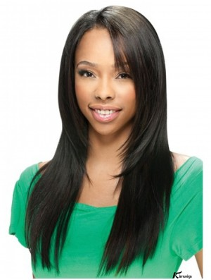 Sassy Black Long Straight U Part Wigs