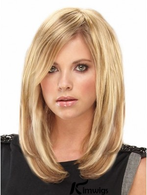 Amazing Blonde Straight Remy Human Hair Clip In Hair Extensions